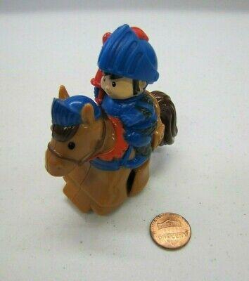 Fisher Price Little People KLIP KLOP DISNEY PRINCESS ROYAL KNIGHT w/ HORSE #1