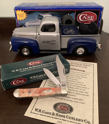 2001 Case XX Ertl Collectible 1951 Ford Pickup Truck with Knife New 6225 1/2