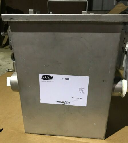 Zurn Solids Interceptor / Grease Trap Z1182 Stainless Side Access