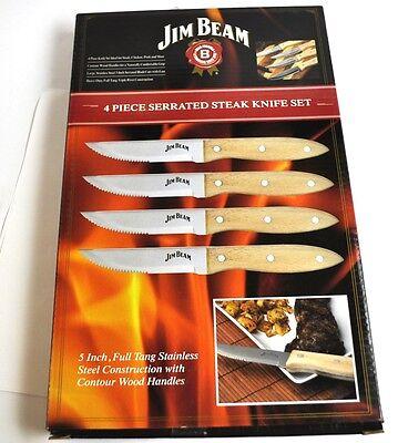 Set mit 4 Jim Beam USA Steak Messer Steakmesser