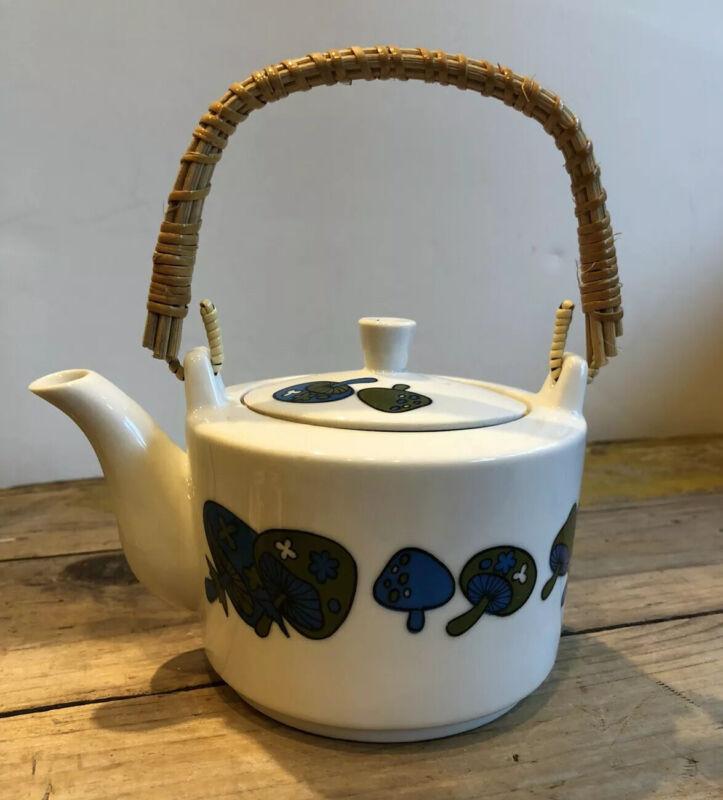Vintage Takahashi Handle Teapot MUSHROOM Design Mid Century Modern 1970