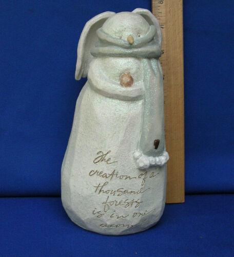 2004 Foundations Snowman Figurine Karen Hahn Enesco Autumn Acorn Angel rare 7.5