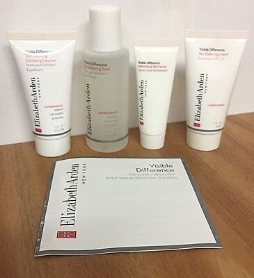 Elizabeth Arden Visible Difference Combination Skin Cleanser Toner Serum Lotion