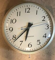 Vintage Edwards Electric School Office Wall Clock 12 Round Model 2515-14