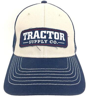 Tractor Supply Co Cap Mesh Hat Snapback Baseball Logo Trucker Adjustable Blue