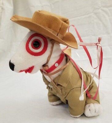 Target Bullseye Dog Safari Khaki Suit Hiring Costume Dog Stuffed Animal Plush