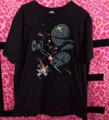 Shirt Woot  Mens Xl 2012 Console Wars Funny Star Wars Theme Tee Shirt New