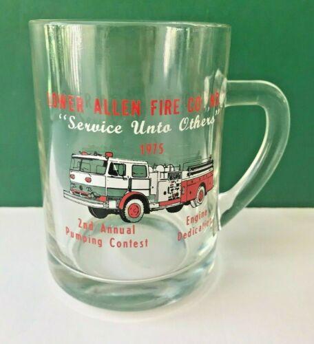 LOWER ALLEN FIRE Department Company No. 1 Glass Mug Stein 1975 Camphill PA