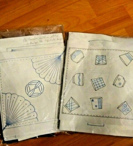 2 Authentic Japanese Sashiko Embroidery Kits