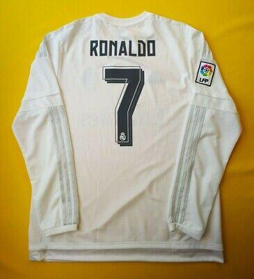 6340d8b3193 5+ 5 Ronaldo Real Madrid jersey XL 2015 2016 shirt AK2495 soccer Adidas ig93