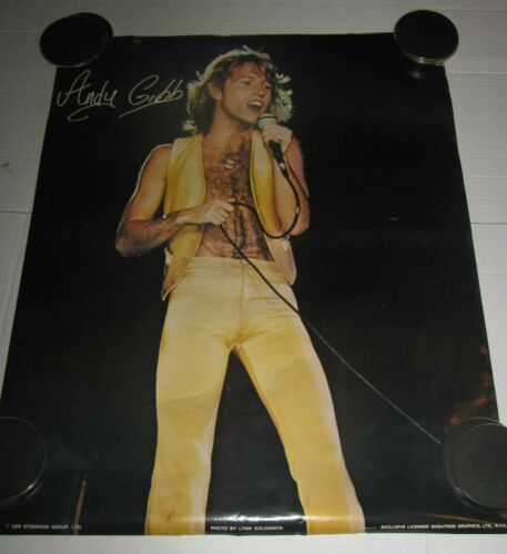 1978 ORIGINAL BEE GEES ANDY GIBB POSTER 1970