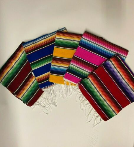 1 Piece  Mexican TABLE RUNNER Saltillo, 55 x 23 Inches, Fiesta, assorted color