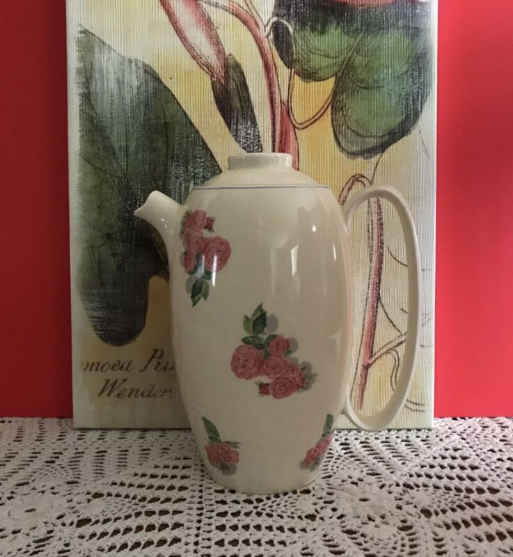 Vintage W.S. George Cavitt-Shaw teapot,177A, rose pattern. Very good condition.