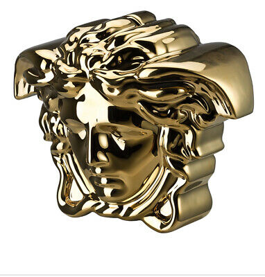VERSACE GORGONA MEDUSA MONEY BANK with KEY GOLD ORIGINAL NEW box Fast shipping