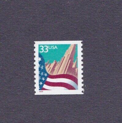 Single 33c Flag WA US #3280a Large Date F-VF, MNH