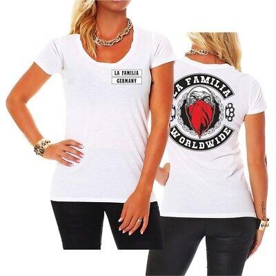 Frauen Damen T-Shirt La Familia WORLDWIDE Loca patch support criminal hardcore