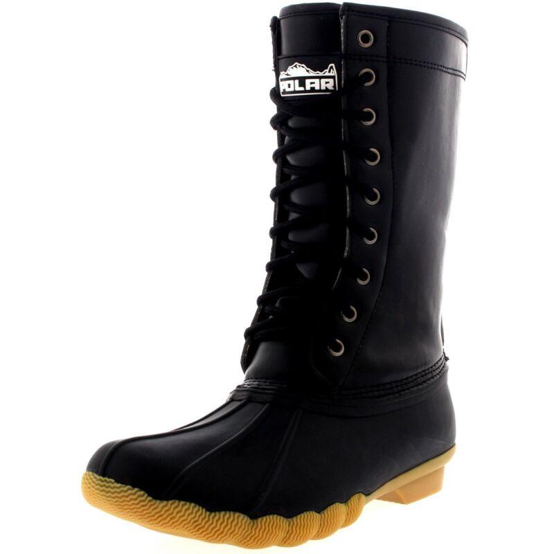 Women's Shoes Winter Boots Warm Fur Rain Snow Calf Size 8