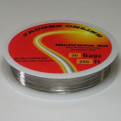 Nichrome 60 Resistance Wire 30 Awg Gauge 250 Feet