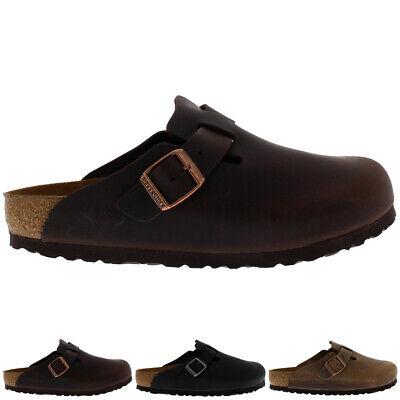 Womens Birkentstock Boston Waxy Leather Holiday Sandals Casual Clogs UK 3-9