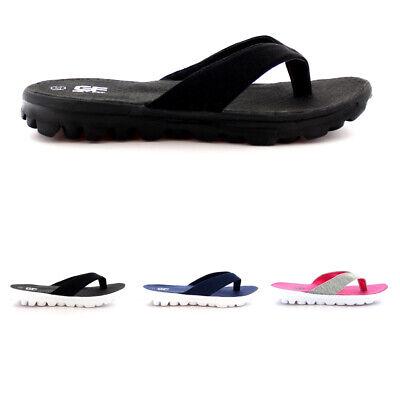 Womens Toe Post Lightweight Summer Flip Flop Walking Sports Sandal Shoes UK 3-10