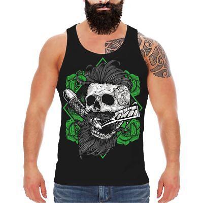 Träger Achsel Muskel Shirt Tank Top HIPSTER Beard Lifestyle Fashion Bart