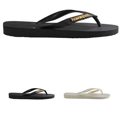 Womens Havaianas Logo Metallic Lightweight Summer Beach Flip Flop Sandals UK 3-8