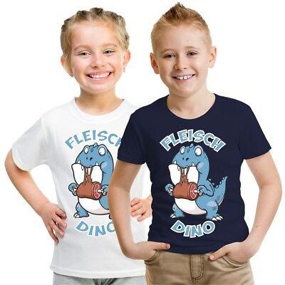 Kinder T-Shirt Fleisch Dino Größe 86 - 164 Jungen Mädchen Dinosaurier Geschenk ()