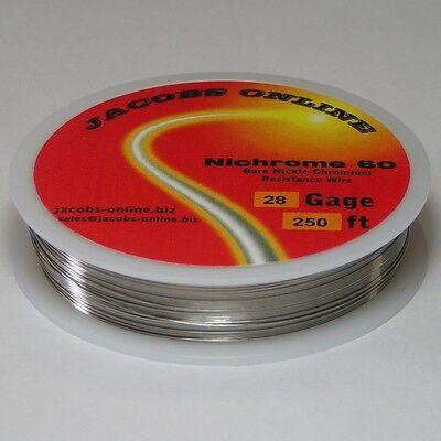 Nichrome 60 Resistance Wire 28 Awg Gauge 250 Feet