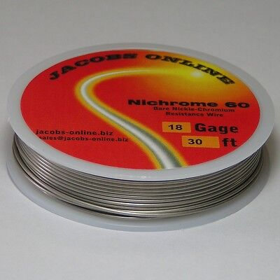 Nichrome 60 Resistance Wire 18 Awg Gauge 30 Feet