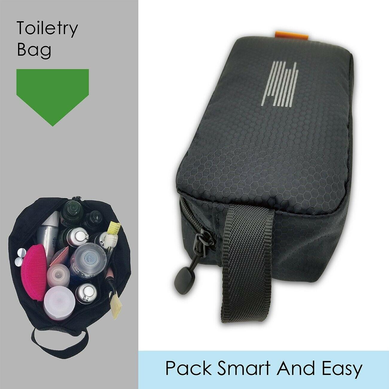light weight toiletry bag black waterproof w