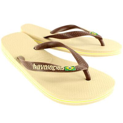 Womens Havaianas Brasil Logo Slip On Flip Flops Summer Beach Sandals New UK 3-10