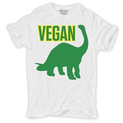 Männer Herren T-Shirt Vegan Veganer Bio Vegetarier Dinosaurier lustig witzig ()