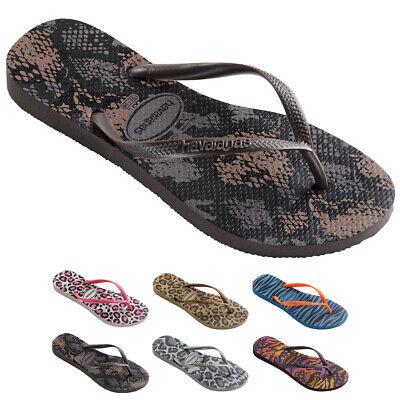 Womens Havianias Slim Animal Thongs Rubber Brazil Multi Sandal Flip Flops UK 1-8