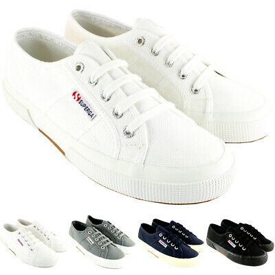 WOMENS SUPERGA 2750 COTU CLASSIC CANVAS LOW RETRO PLIMSOLL TRAINERS UK SIZES 3-8