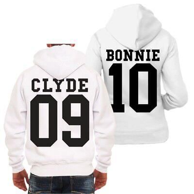 Partner Kapuzenjacke Bonnie & Clyde BLACK Beziehung Gangster - Gangster Paar