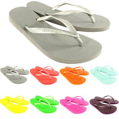 Womens Havaianas Slim Holiday Beach Flip Flops Summer Sandals Slip On UK 1-8