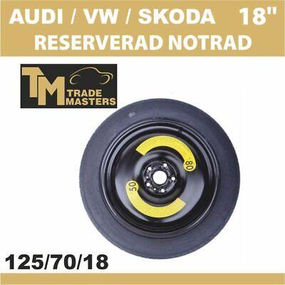 """Volkswagen Caddy 2001-2019 Voll Größe Stahl Ersatz Rad 16 /"""" 205//55R16 Reifen"""