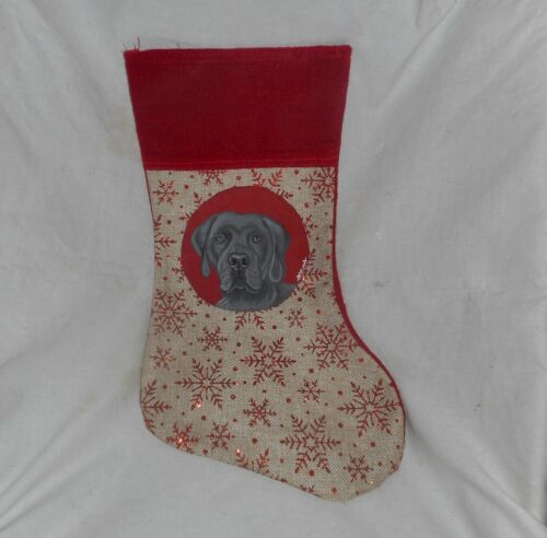 Weimaraner Dog Hand Painted Christmas Stocking Holiday Decoration