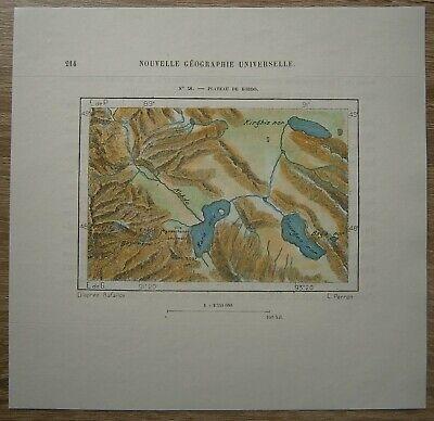1882 Perron map PLATEAU OF KOBDO KHOVD, MONGOLIA (#38)