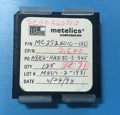 Mc2s2.6010-010 Metelics Capacitor Chip 2.6pf Rf Microwave 71units