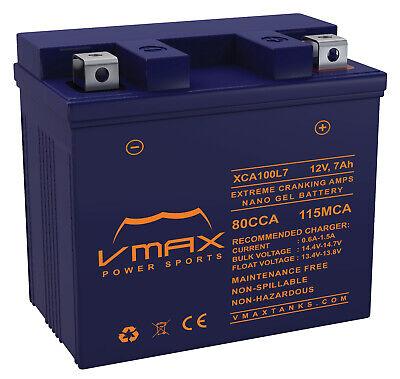 VMAX XCA100L7 SCOOTER GEL BATTERY UPGRADE E-Ton 50cc Beamer 50 2000-12 12V 7ah