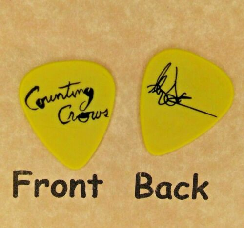 COUNTING CROWS band logo Adam Duritz signature guitar pick - (Q-2280)