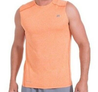 Russell Athletic Athletic Tank Top - RUSSELL ATHLETIC MENS DRY POWER 360 MUSCLE TEE TANK TOP - ORANGE SIZES S-3XL NWT