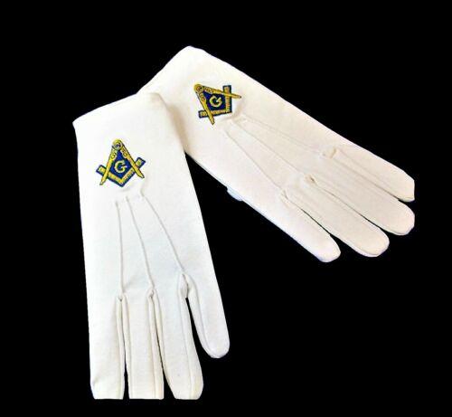 Master Mason Gloves Masonry Supply Embroidered Freemason Masonry Supply