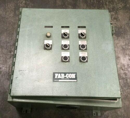 Fab-con 7 Button Industrial Control Panel W/ Hoffman Enclosure Lot #1