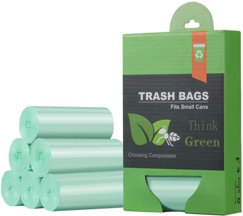 Compostable Small Trash Bags Garbage Bags Mini Strong 1.32 Gallon /5L Can Liners