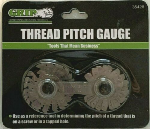 Thread Pitch Gauge SAE 4-42 & METRIC .25 - 5.5