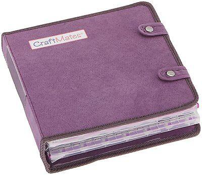 Craft Mates Lockables Ultrasuede Large Organizer Case, Purple by Craftmates NEW