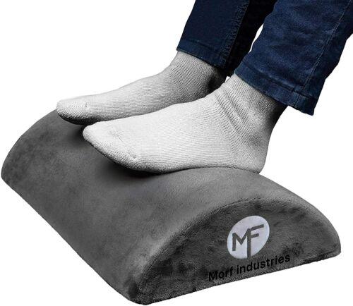 Ergonomic Foam Foot Rest Under Desk Comfort Cushion Non Slip Bottom Gray, USA