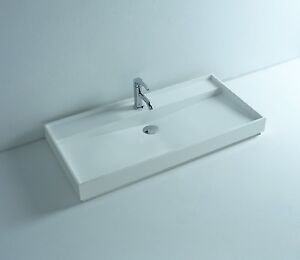 Countertop solid surface stone modern hung bathroom sink for A bathroom item that starts with n
